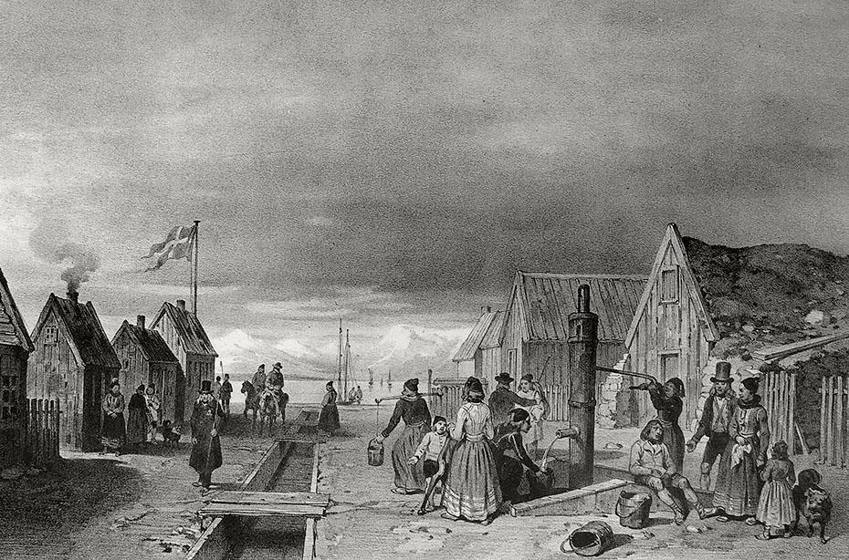 historische Illustration von Reykjavík