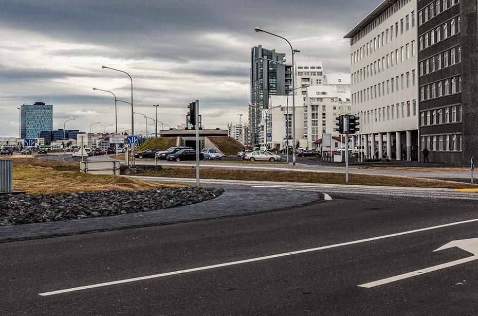 moderne Bauten in Reykjavík
