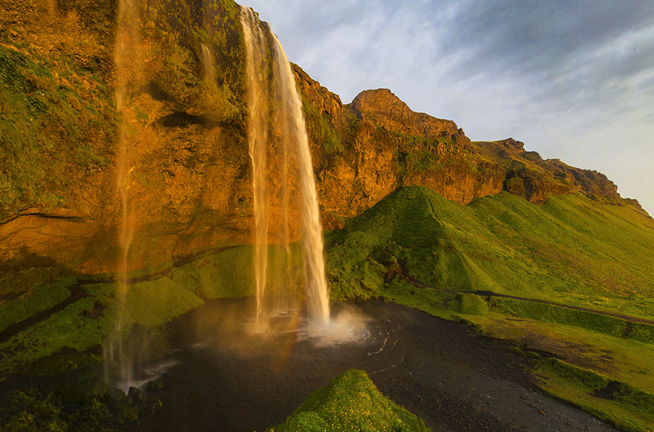 Island Exkursion im Herbst: Seljalandsfoss