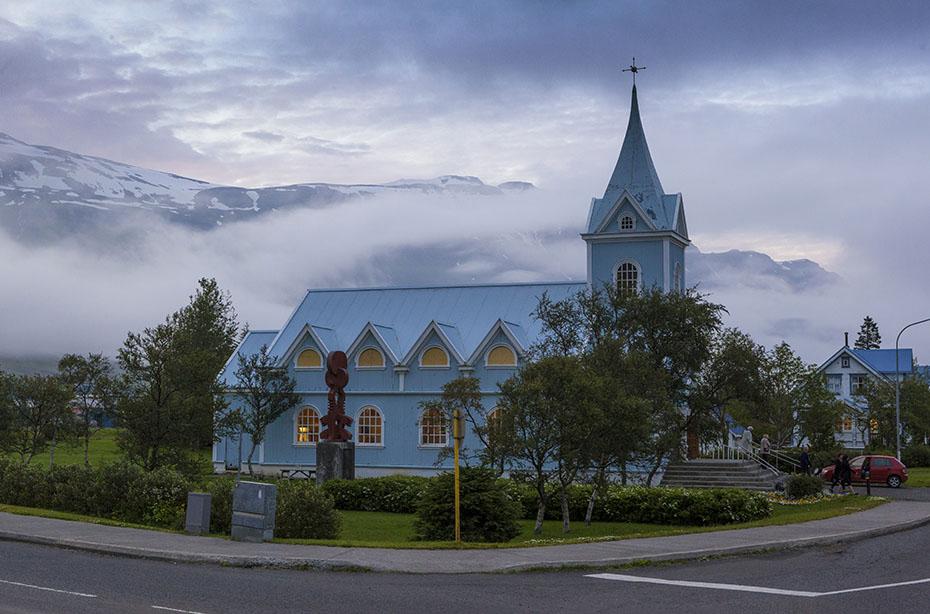 Die Kirche von Seyðisfjörður