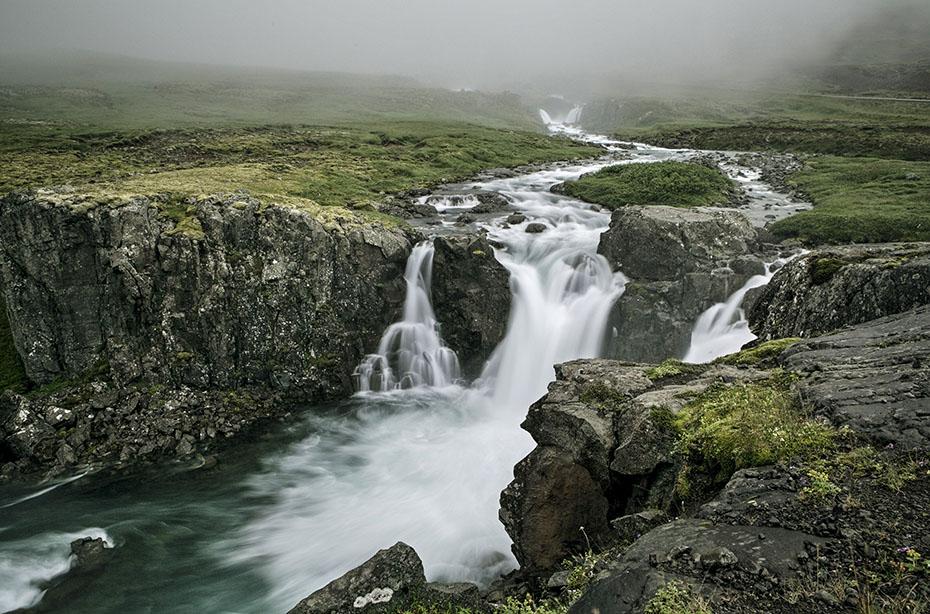 Wasserfall bei Seydisfjördur