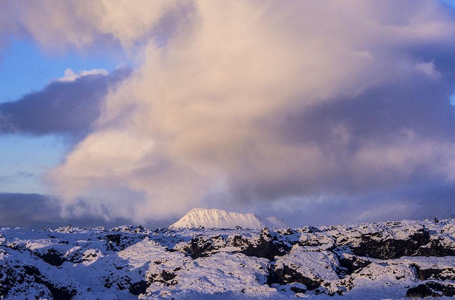 Winterlandschaft im Snæfellsjökull-Nationalpark