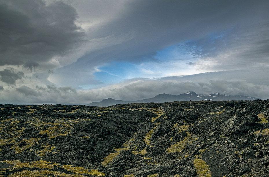 Das Lavafeld Neshraun im Snæfellsjökull-Nationalpark