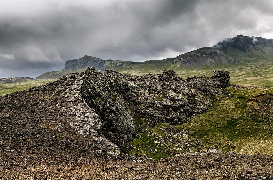 Vulkankrater Saxhóll im Snæfellsjökull-Nationalpark