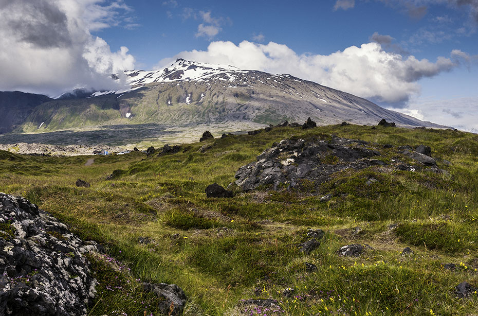 Der Snæfellsjökull aus Richtung Süden