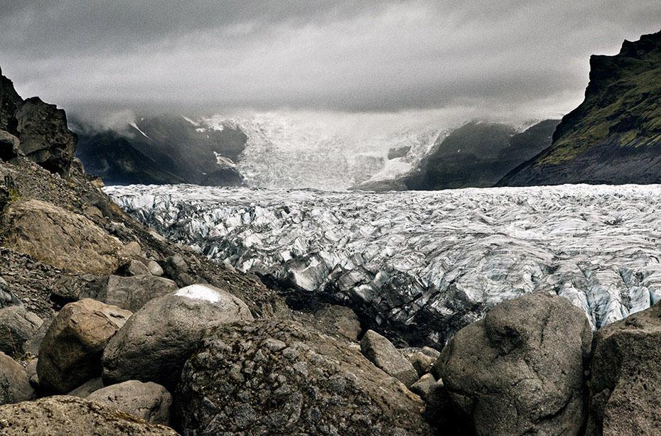 Die Gletscherzunge Svínafellsjökull