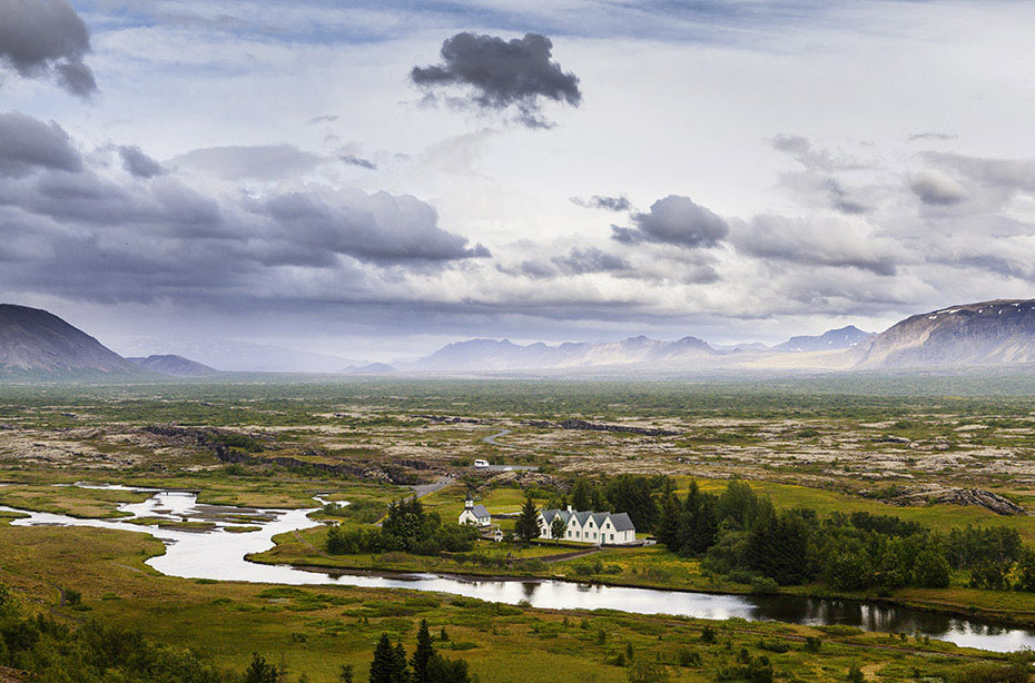 Ebene des Thingvellir-Nationalparks