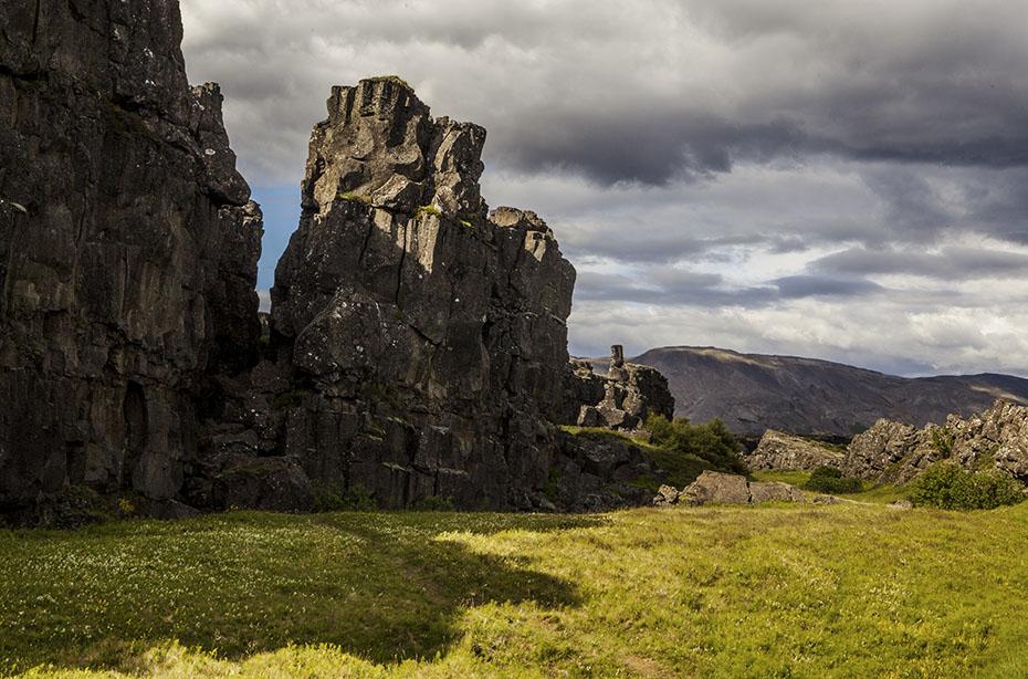 Almannagjá-Schlucht in Þingvellir