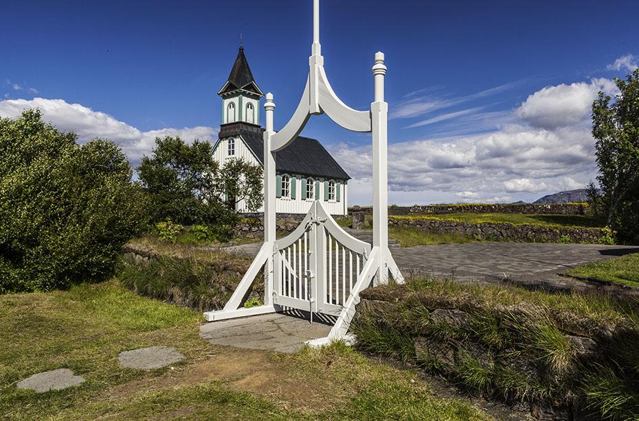 die Kirche von Þingvellir