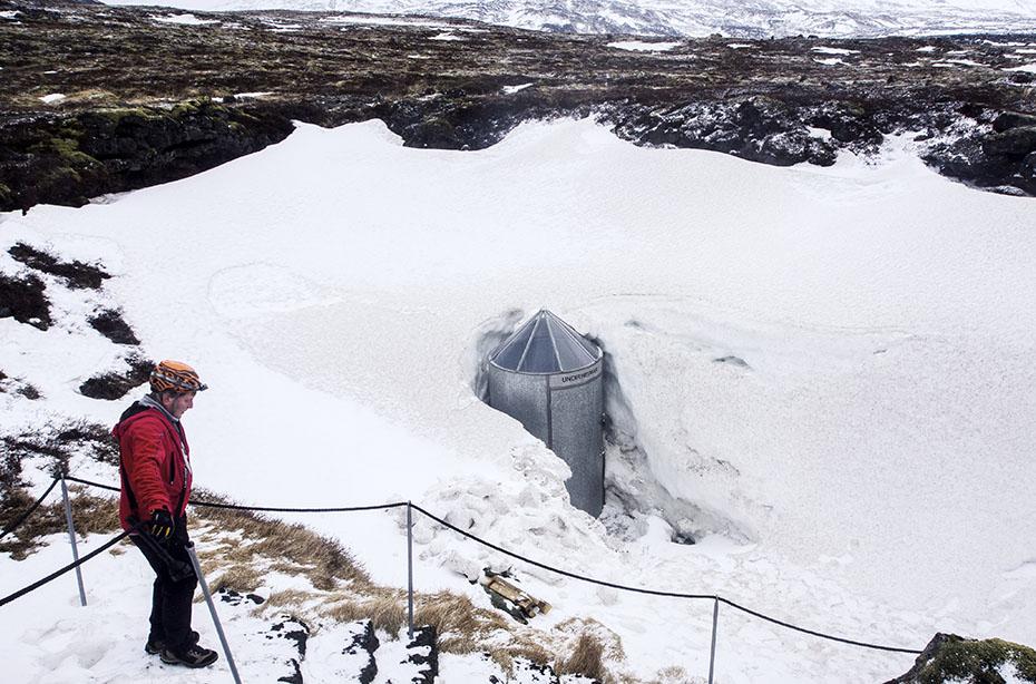 Eingang zur Höhle Vatnshellir