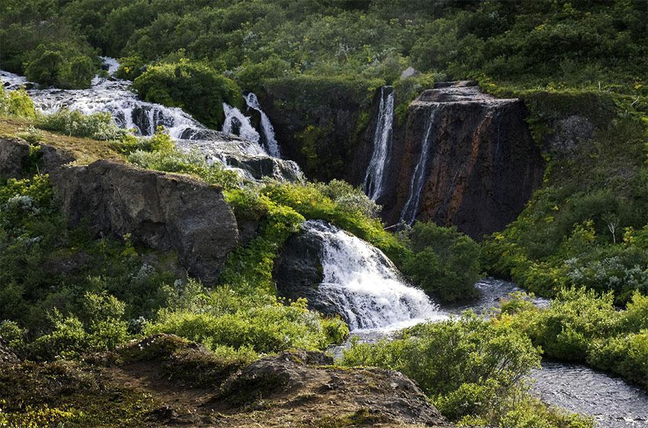 Wasserfall bei Hólmatungur