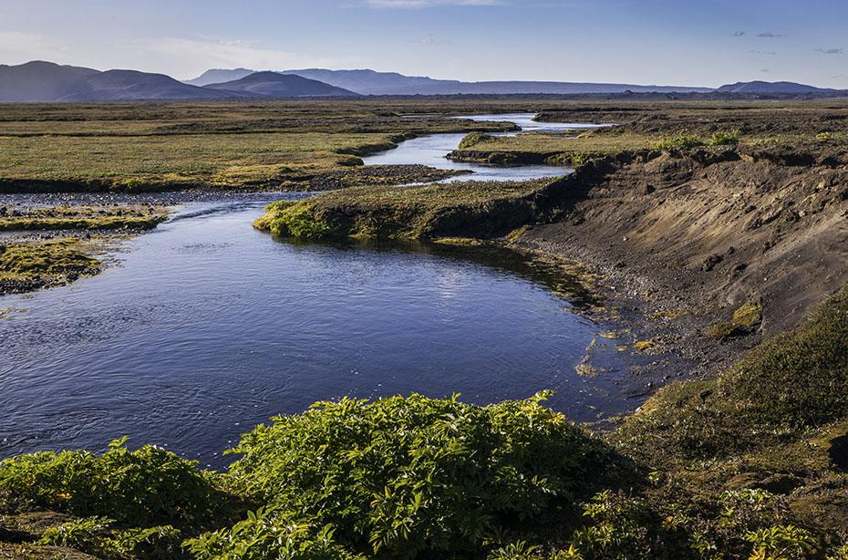 Die Oase im Hochland Islands