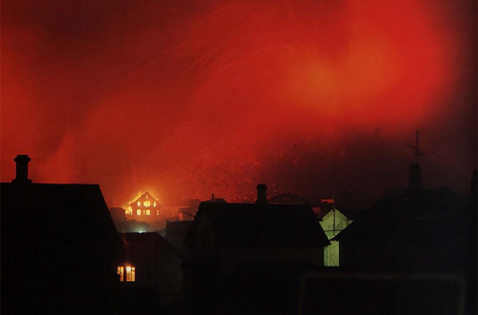 Westmännerinseln:Ausbruch des Vulkan Helgafell