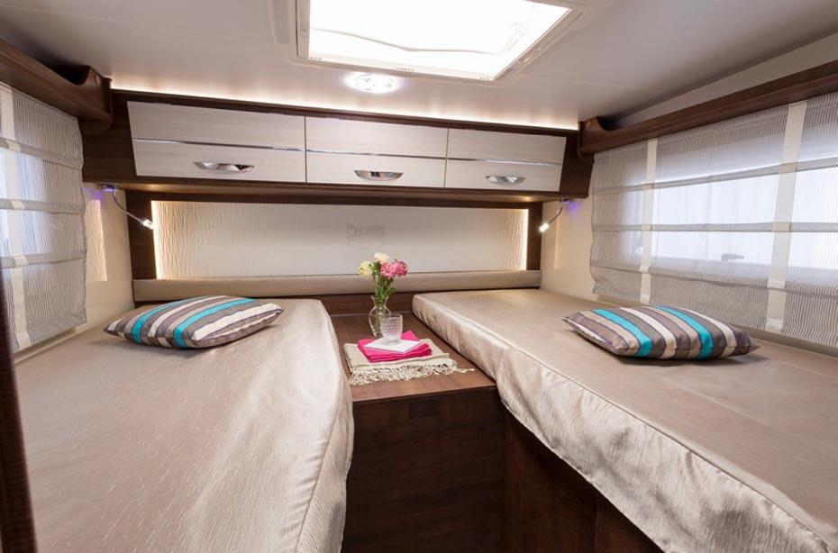 Schlafbereich Wohnmobil Iceland 4