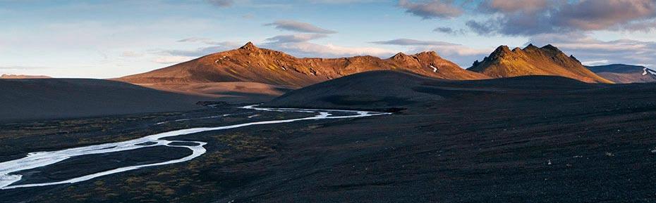 Bergkette im isländischen Hochland