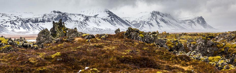 Lavafeld auf der Halbinsel Snæfellsnes