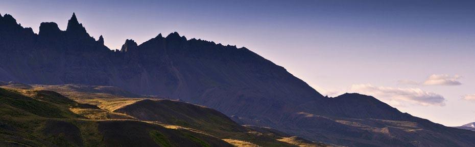 Bergkette bei Akureyri im Norden Islands
