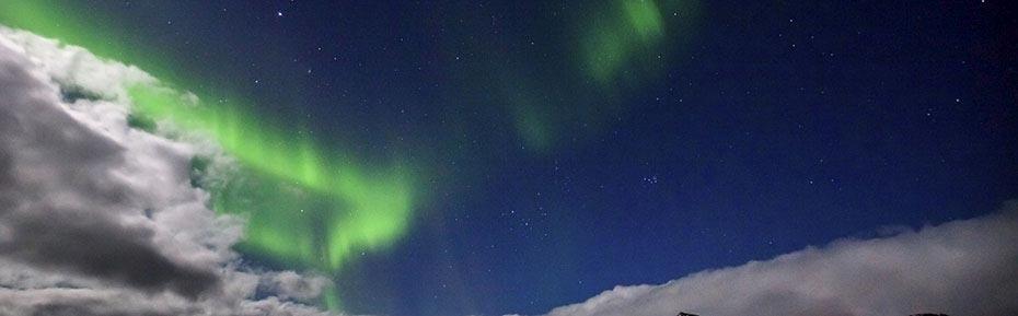 Polarlichter über Snæfellsnes