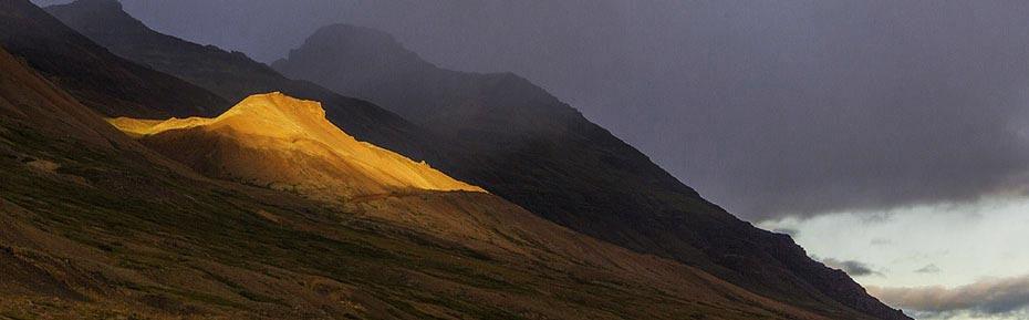Islands Osten Berge im Tal Breiðdalur