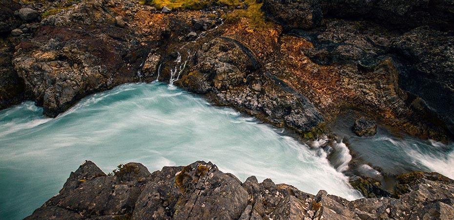 Wasserfall Barnafoss