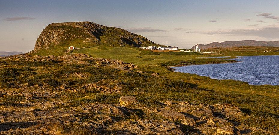 Der Berg Helgafell vom Westen aus