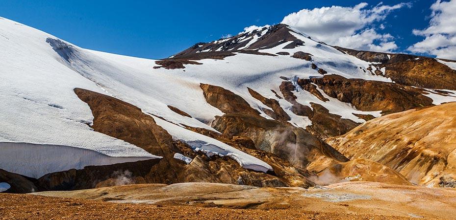 schneebedeckte Berge von Kerlingarfjöll
