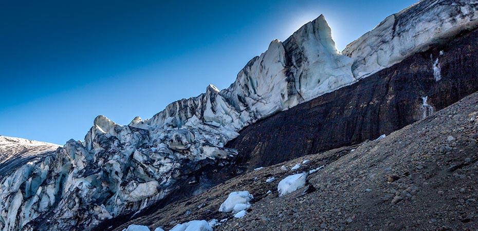 Gletscherkante in den Kverkfjöll