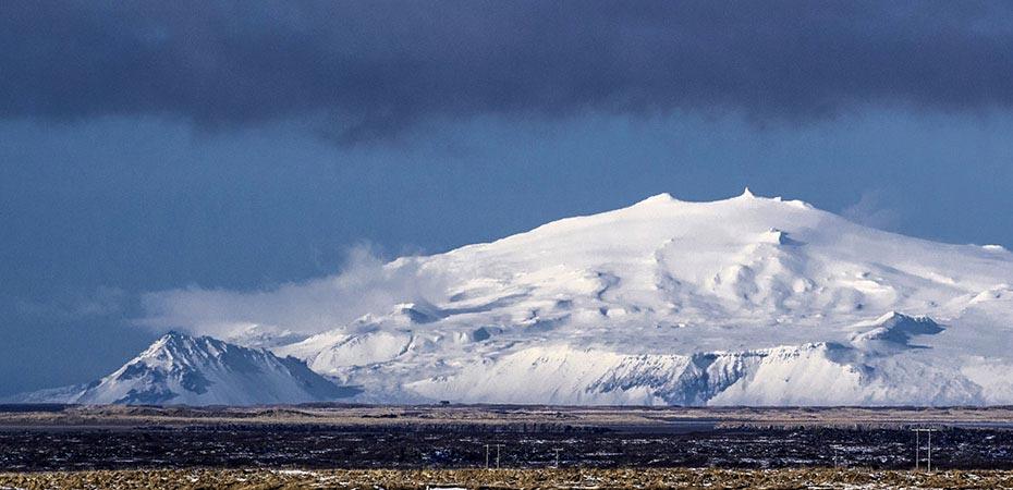 Snaefellsjökull im Winter
