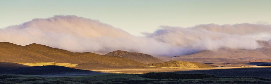 Islandreisen Wolken über Mödrudalur