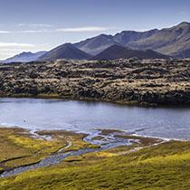Der See Selvallavatn auf der Halbinsel Snæfellsnes