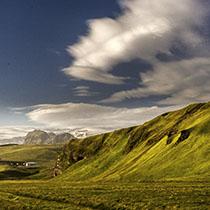 Blick auf den Mýrdalsjökull