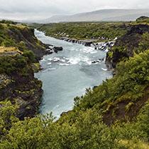 Wasserfälle Hraunfossar