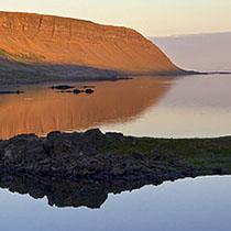 Fjord in den Westfjorden