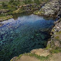 Das klare Wasser des Þingvallavatn