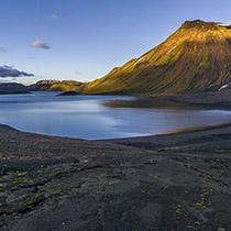 Der See Langisjór im Hochland