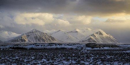 Islands Westen Winterlandschaft
