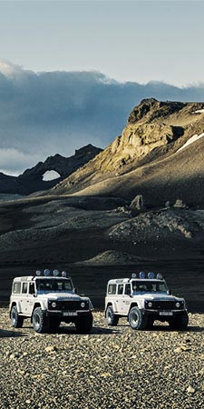 Super Jeeps im Hochland