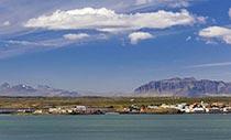 Borgarnes und Borgarfjörður