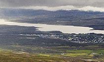 Ansicht von Egilsstaðir im Osten Islands