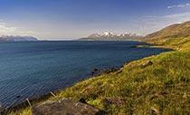 Blick über den Eyjafjörður