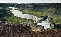 Der Wasserfall Hafragilsfoss