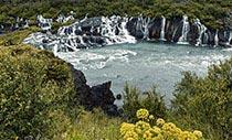 Hraunfossar, die Lava-Wasserfälle