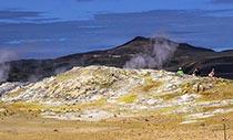 Blick zum Vulkan Krafla