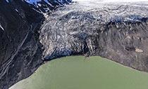 Luftbild des Langjökull-Gletschers