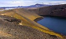 Der Vulkankrater Ljótipollur im Hochland