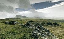 Ansicht des Lavafeldes Neshraun