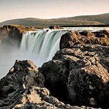 Island Sehenswürdigkeiten Wasserfall Godafoss