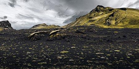 die Laki-Krater im isländischen Hochland