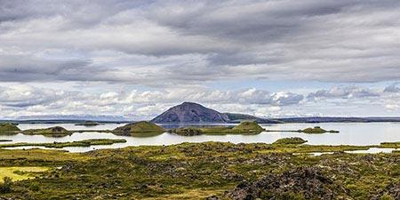 Island-Reisen Ansicht des Sees Mývatn
