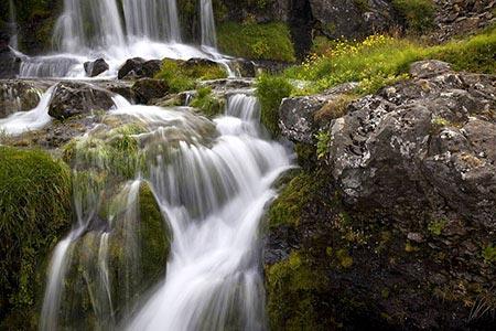 kleine Wasserfälle am Dynjandi
